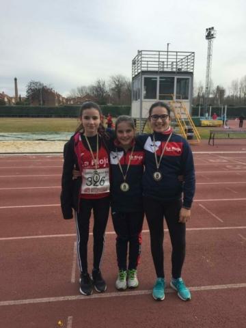 Jimena, Sara y Ángela: triplete en Combinadas