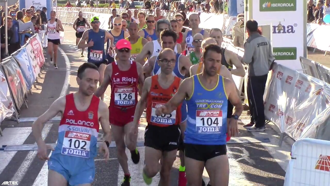 Miguel Angel Ruiz en el campeonato de España de La Milla